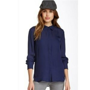 Michael Stars 100% Silk Button Down Shirt